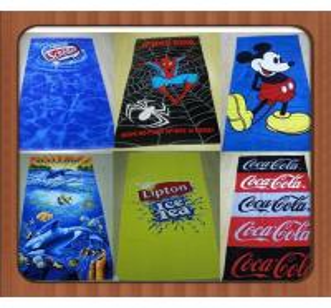 Custom cartoon Microfiber towels plain dyed beach towel microfiber bath towel