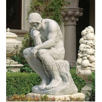 China Famous Marble Thinker Statue Natural Stone Rodin Le Penseur Sculpture For Garden factory