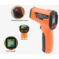China 2020 The Most Popular High precision digital laser infrared thermometer with LCD for industrial and domestic use factory