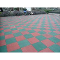 China Primary Schools Playground Safety Surface Rubber Tiles High Density Durable Mat factory