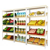 Buy cheap Fashion Shop Wooden Shelf Rack , Wooden Display Cabinet For Vegetable / Juice / Cake from Wholesalers