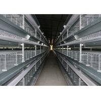 China Indoor Battery Cage Poultry Farming Saving Feed Unique Cross - Opening Door Design factory
