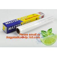 Buy cheap Eco friendly non toxical soft pe pvc food cling wrap on sale, clear food film food grade PE plastic wrap from Wholesalers