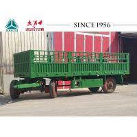 Buy cheap 20FT 2 Axle Flat Bed Drawbar Trailer With Side Wall from wholesalers