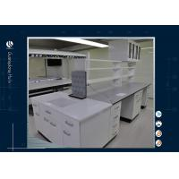 China Heavy - Duty Computer Lab Furniture Professional Design White Work Bench on sale