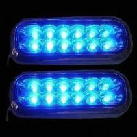 China 12 LED Lamp with Blue and Clear LED factory