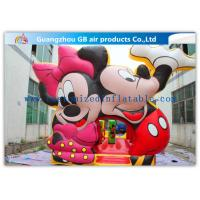 China Beautiful Mickey Mouse Kids Inflatable Bouncy Castle Cartoon With CE / UL Blower factory