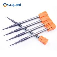 China 4mm 30 Degree Tapered Ball End Mill Tungsten Carbide For Aluminum factory