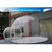 China 0.7mm Transparent Pvc Inflatable Camping Bubble Tent With Floor CE UL EN14960 factory