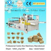 Buy cheap Corrugated Cardboard Production Line Corrugated Paperboard Folding / Gluing 4KW from Wholesalers