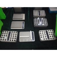 China 30 sites Sample Metal Test Tube Rack / Test Tube Display Rack 384 Plate cooperate with cooling core factory
