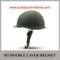 Buy cheap Wholesale Cheap China Military Green Color M1 Double-Layer Strong Steel  Helmet from Wholesalers
