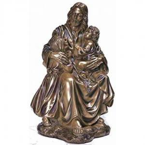 China Garden Metal sculpture Jesus & children bronze statues,customized bronze statues, China sculpture supplier factory