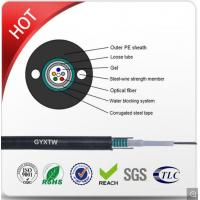 China Single Mode G652D Armored Fiber Optic Cable Unitube Type GYXTW Light Weight on sale