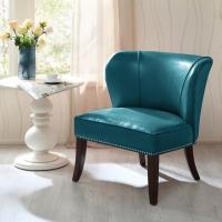 Buy cheap Overstuffed Upholstered Accent Chairs , Leather Accent Lounge Chair With Armless from Wholesalers