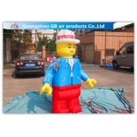 China Nylon Inflatable Cartoon Characters , Inflatable Lego Model With Beautiful And Long Durability factory