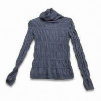 Buy cheap Knitted Sweater, Made of 30% Wool and 70% Acrylic, 12GG Gauge from Wholesalers