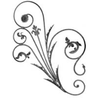 Buy cheap Ornamental Iron Railing Parts Decorative Forged Iron Rosettes from wholesalers