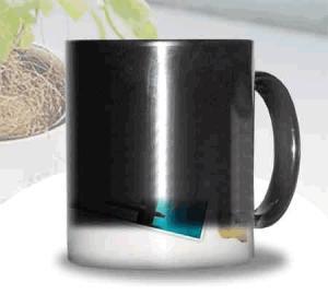 China Certification SGS/CE custom LOGO for the change colors mug WITH HANDLE printting photos ceramic cup magic mug on sale