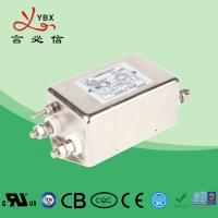 China Double Stage AC Voltage Line Filter 1A-20A Metal Case Eco - Friendly factory