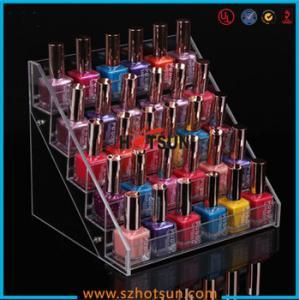 China Clear Acrylic Nail Polish Display Stand, 5 tier nail polish display rack factory
