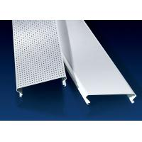 China C Shaped Linear Metal Strip Ceiling  , False Perforated Aluminium Strip factory