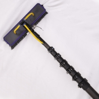 China Window Cleaning 12m Black Color Carbon Fiber Telescopic Pole factory