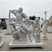 China Museum exhibition marble sculptures Laocoon replica stone statue,stone carving supplier factory