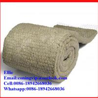 China Wire mesh backed Rock wool blanket insulation on sale