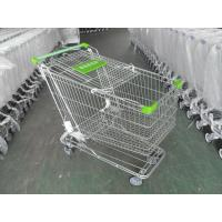 Buy cheap 180 Liter Steel Wire Grocery Store Shopping Cart , 4 Wheel Shopping Trolley from Wholesalers