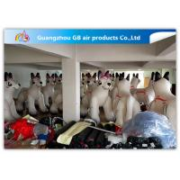 China PVC Airtight White Inflatable Dog 2.2m High For Advertisement ODM factory