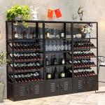 Buy cheap Modern Luxury Metal Wine Display Shelf Black MQ-S005 For Storing Wine from Wholesalers