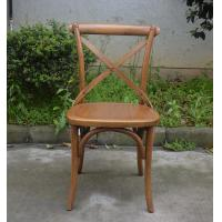 Wedding Use Antique Look Wooden Cross Back Chair/Leisure Canteen Chairs