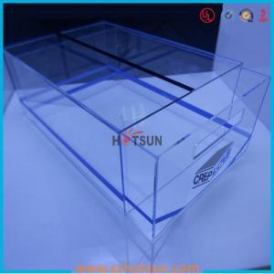 China high quality plexiglass shoe box for package,wholesale custom clear acrylic shoe box hupbox sneaker display box factory