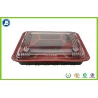 Buy cheap Customized Take Away Plastic Food Packaging Trays With Transparent Lid from Wholesalers