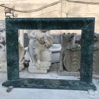 China Antique Marble Fireplace Surround Freestanding Fireproof Stone By Hand Carved factory