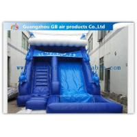 China Blue Large Wet Inflatable Water Slide Into Pool For Water Amusement / Garden factory