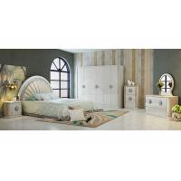 Buy cheap Durable PU Leather Khaki  and White Option Color With 2.4 Meter  High Gloss Wardrobes from Wholesalers