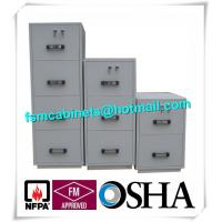 China Steel 4 Drawers Fire Resistant File Cabinets , Fireproof File Cabinets For Documents factory