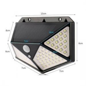 China Led Solar Light Outdoor Solar Wall Lamp IP65 PIR Motion Sensor Lampara Garden Solar Lighting factory