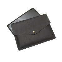 China Black Leather Tablet Protective Cases With Pop Button factory