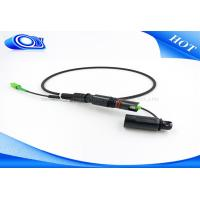 China FTTA Mini SC Waterproof Cable Connector Safe Black Color Customized on sale