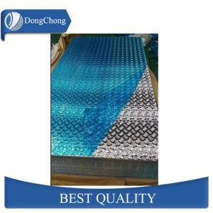 China 4mm Diamond Aluminum Sheet , Anti Skid Aluminum Checkered Sheet Vehicle Floor factory