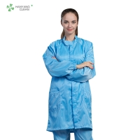Buy cheap Dust-free antistatic ESD blue labcoat gown suitable for cleanroom or workshop of from wholesalers