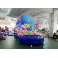 China Safety Inflatable Bubble Tent / Inflatable Snow Globe 0.65 Mm PVC Tarpaulin factory
