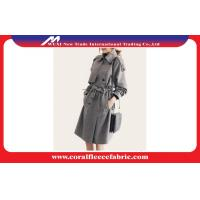 China Fashion Autumn Ladies Long Trench Jacket With Gray Latticed Pattern factory