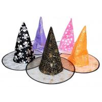 China Witches hats witches caps halloween hats costume ball hats silk hats factory