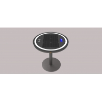 China Embedded LiFePO4 20Ah 30W Wireless Charging Coffee Table factory