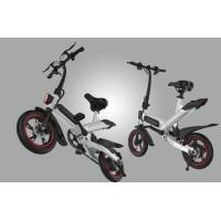 Electric Compact Folding Bike , Lightweight Fold Up Cycles Eco - Friendly
