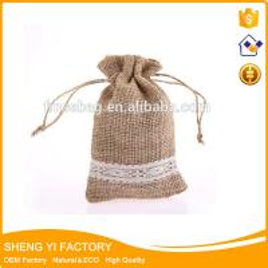China wholesale Cheap small Drawstring jute Sack hessian jewelry bag on sale